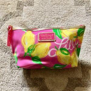 NEW Lilly Pulitzer Estee Lauder Lemon Cosmetic Bag